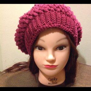 Crochet slouchy puff stitch. NWOT